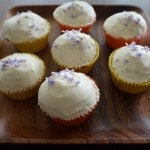 Vanilla cupcakes with lavender
