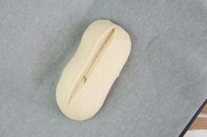 bread loaf before baking