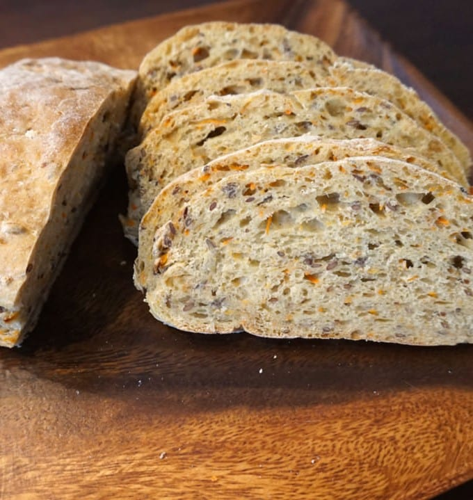 Mixed Flour Carrot Bread