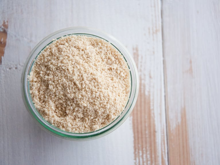 Vegan Parmesan made with Cashews from the top