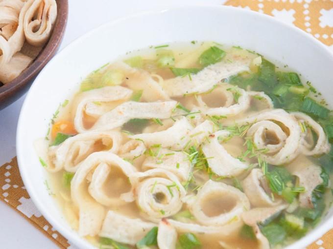 Austrian Pancake Soup | ElephantasticVegan.com
