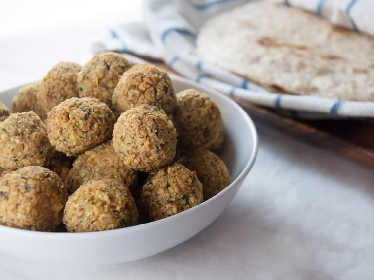 Huge Batch of Oven-Baked Falafel