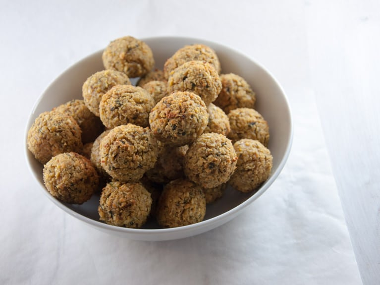 A bowl of Oven-Baked Falafel