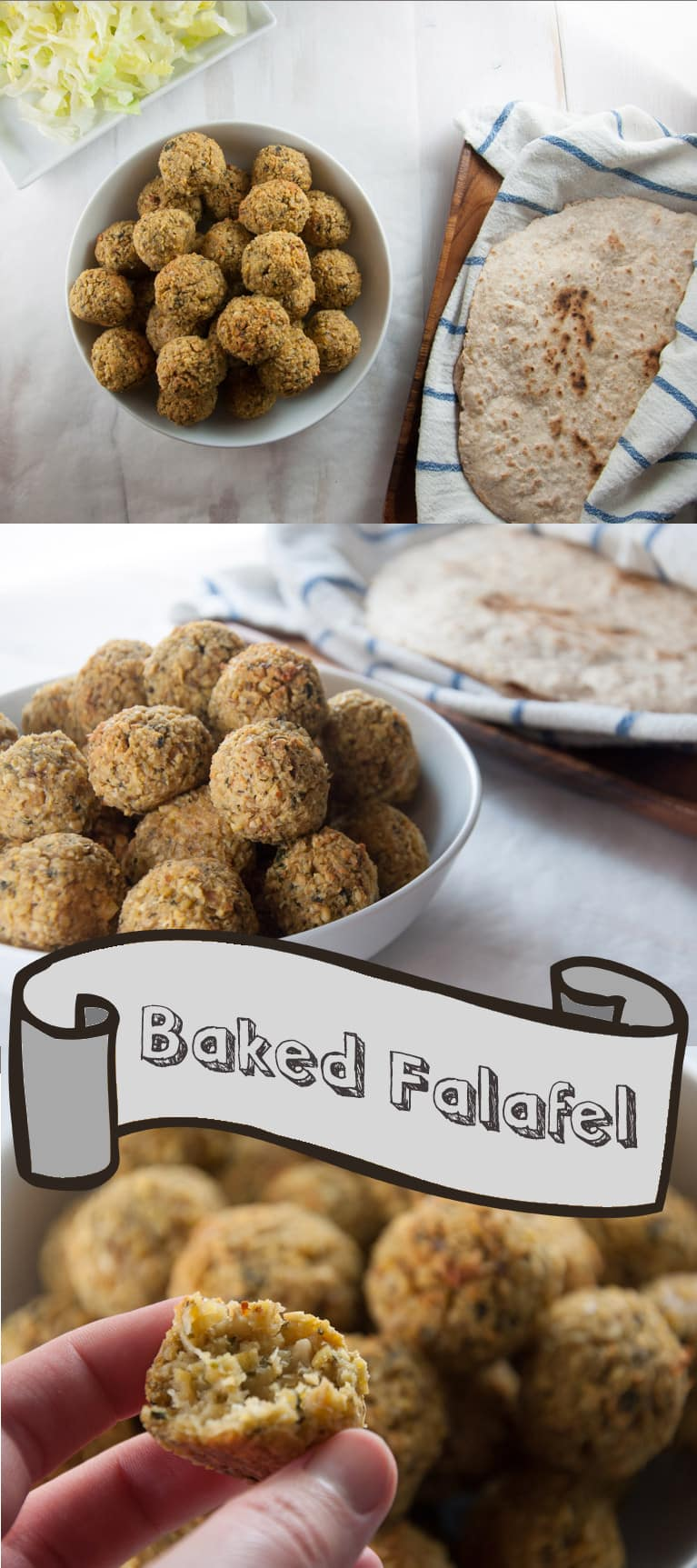 Huge Batch of Baked Falafel - freezer-friendly! | ElephantasticVegan.com #vegan #glutenfree #chickpea #freezerfriendly #falafel