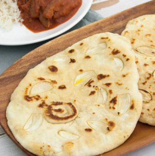 Indian Garlic Naan (Vegan)