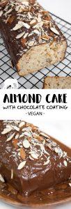 Vegan Almond Cake with chocolate coating | ElephantasticVegan.com
