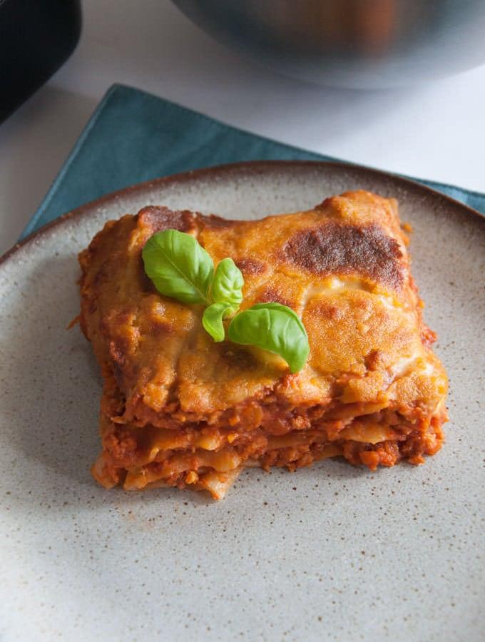 Vegan Lasagna with Nooch Cheese