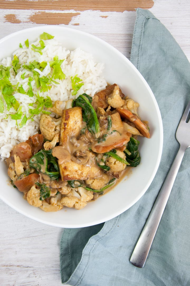 Vegan Peanut Butter Curry with tofu