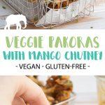Vegetable Pakoras with Mango Chutney Pin