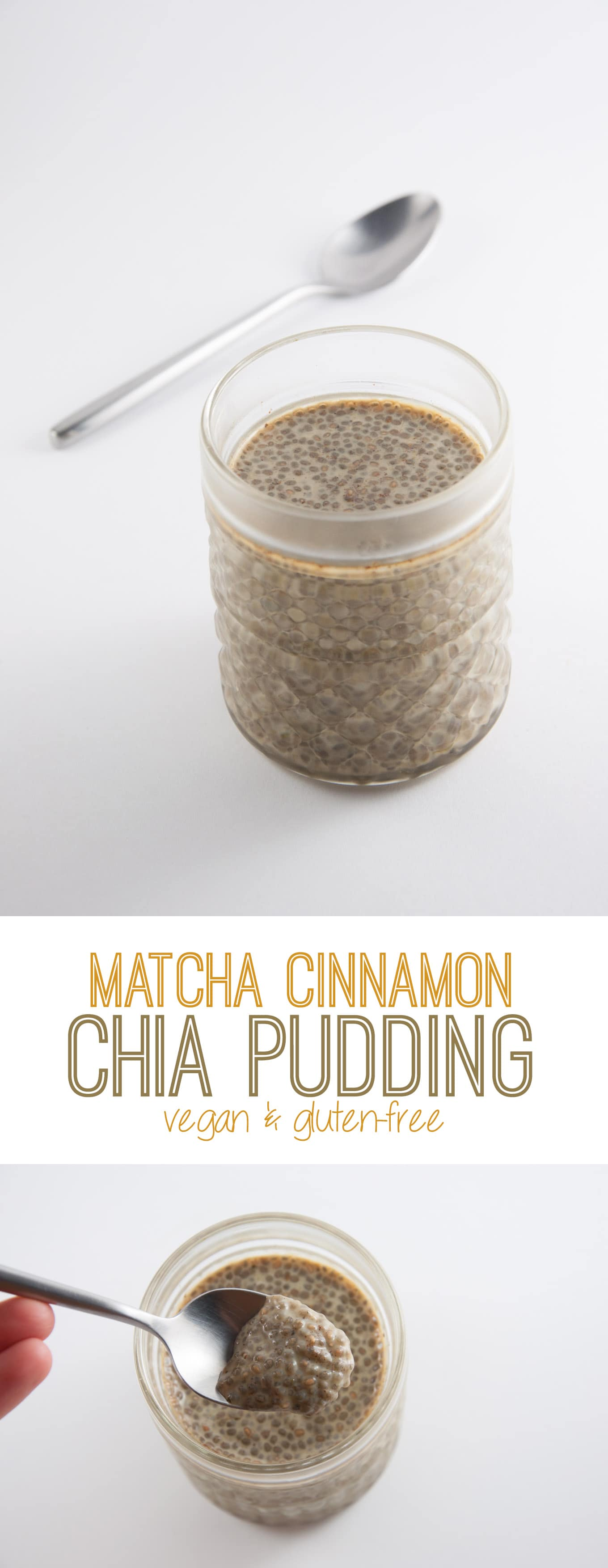 Matcha Cinnamon Chia Pudding | ElephantasticVegan.com