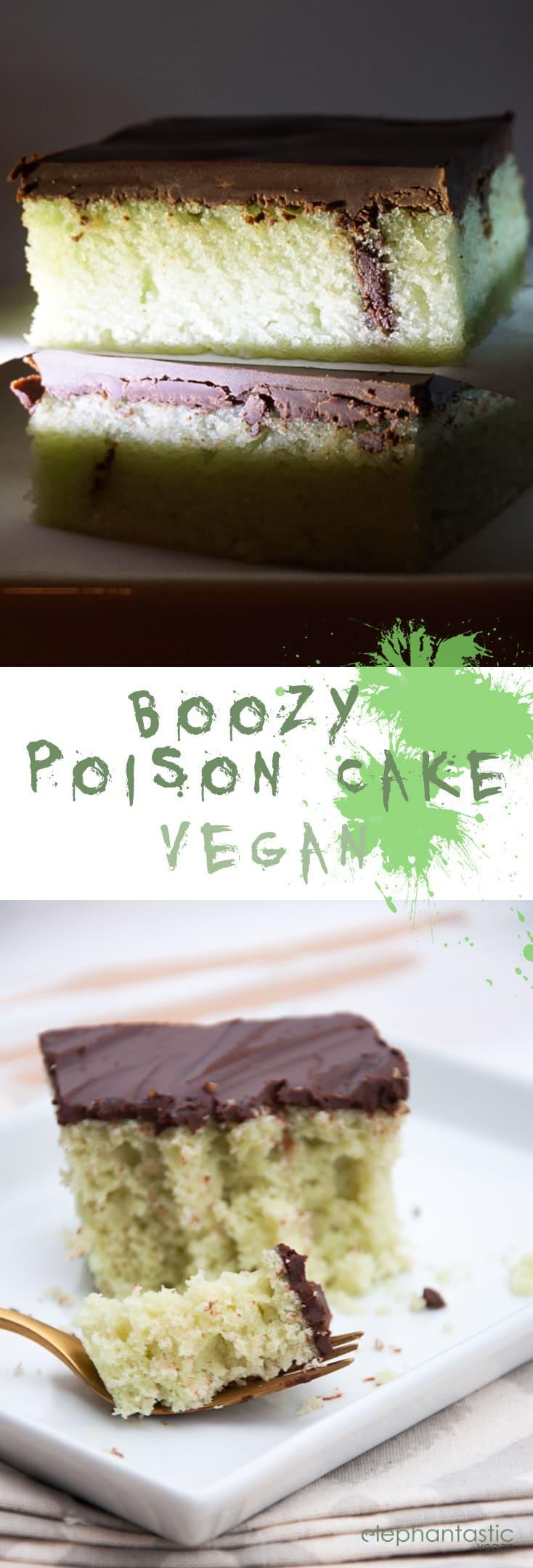 Boozy Poison Cake | ElephantasticVegan.com