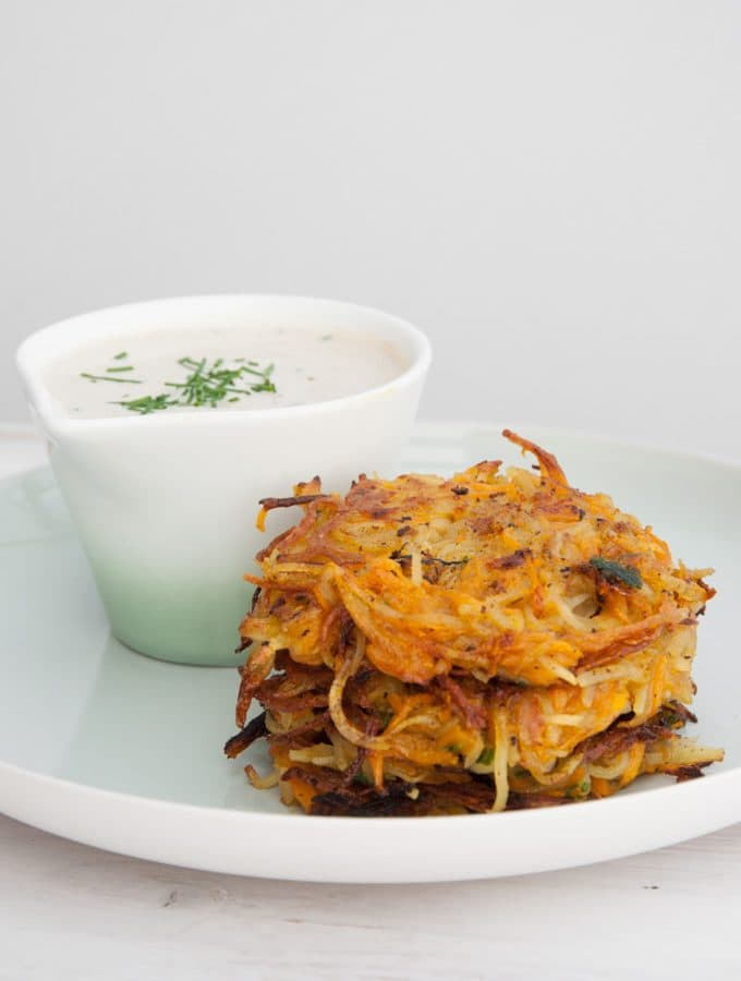 Vegan Pumpkin & Potato Rösti | ElephantasticVegan.com