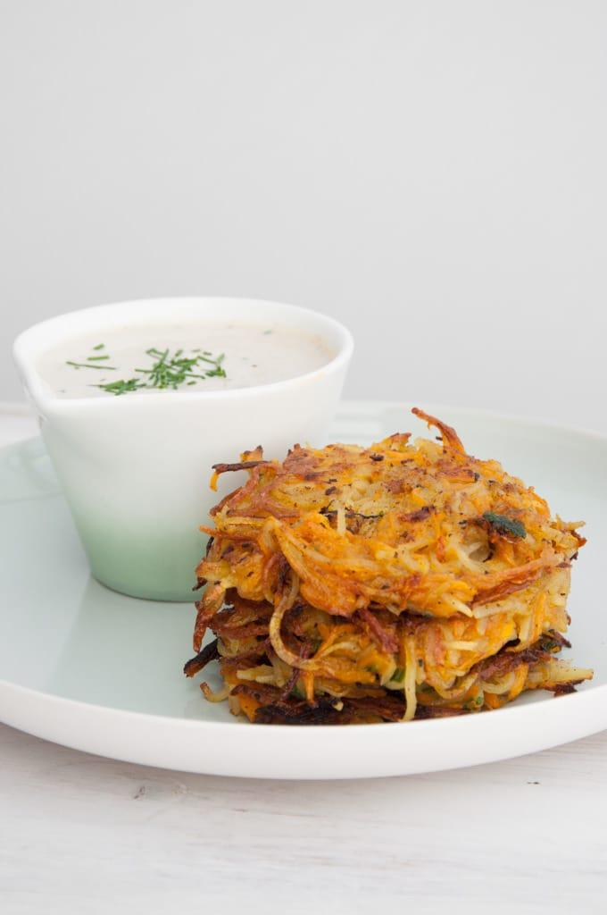 Vegan Pumpkin & Potato Rösti | ElephantasticVegan.com