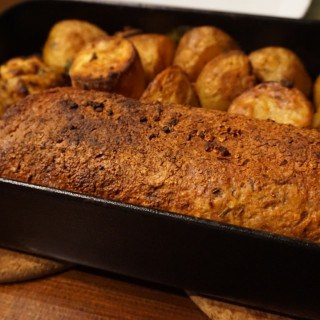 Seitan Roast with Bread Stuffing