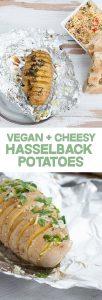 Cheesy Hasselback Potatoes | ElephantasticVegan.com
