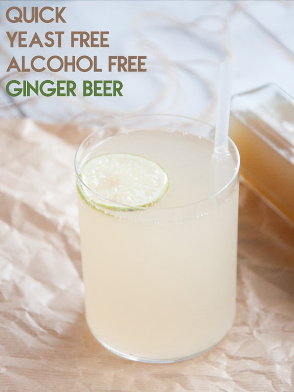 Quick Yeast Free Alcohol Free Ginger Beer Recipe Elephantastic Vegan