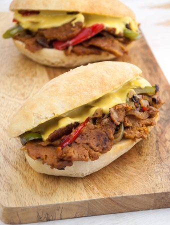 Vegan Philly Cheesesteak Sandwiches