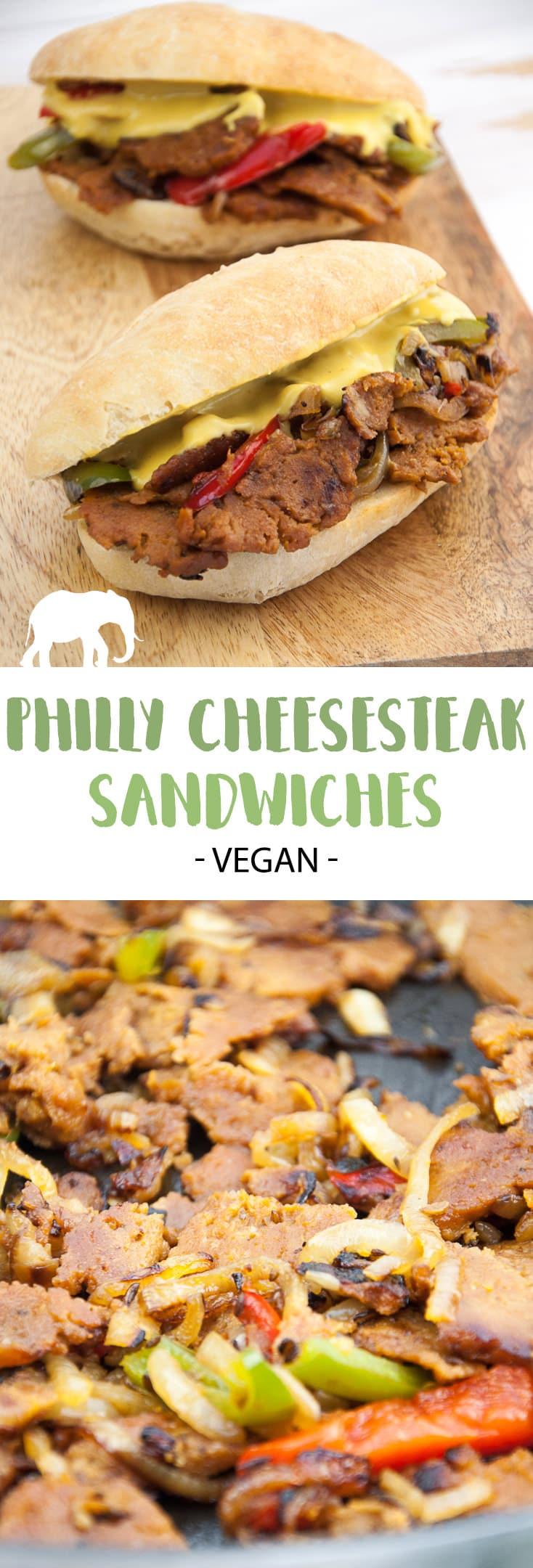 Vegan Philly Cheesesteak Sandwiches | ElephantasticVegan.com #vegan #cheesesteak #seitan #sandwich