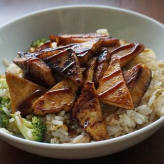 Hoisin Glazed Tofu Rice Bowl