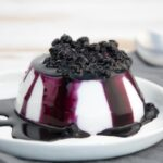 Vegan Coconut Panna Cotta with Blueberry Topping