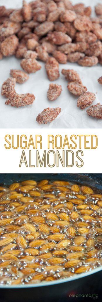 Sugar Roasted Almonds | ElephantasticVegan.com