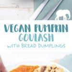 Vegan Pumpkin Goulash with Bread Dumplings