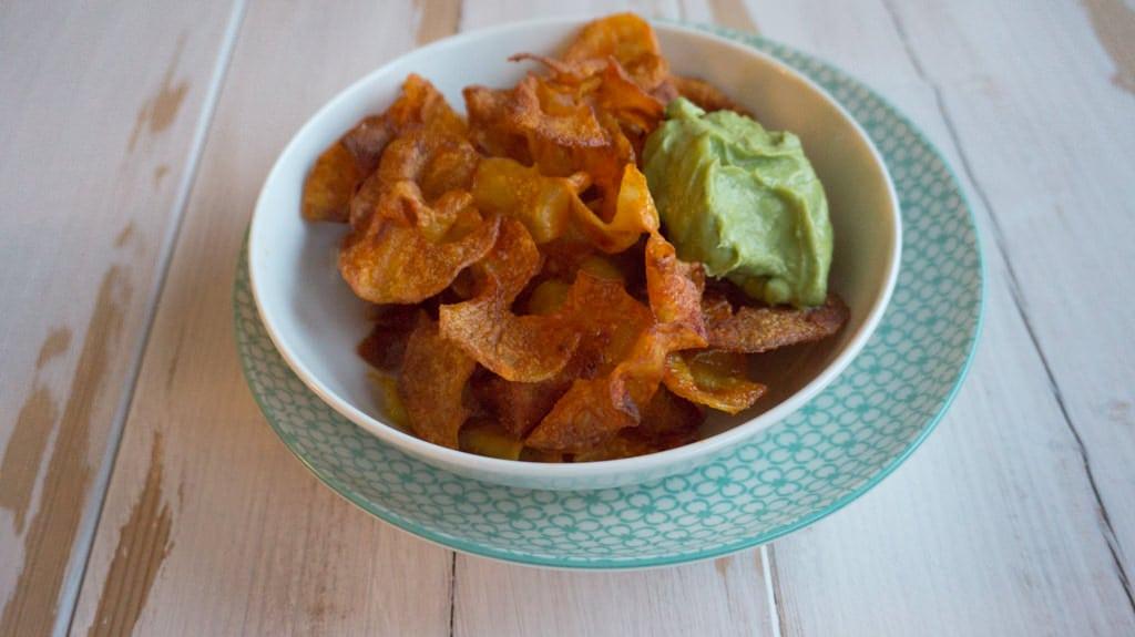 Crispy Potato Twisters Recipe with an Avocado Coriander Dip