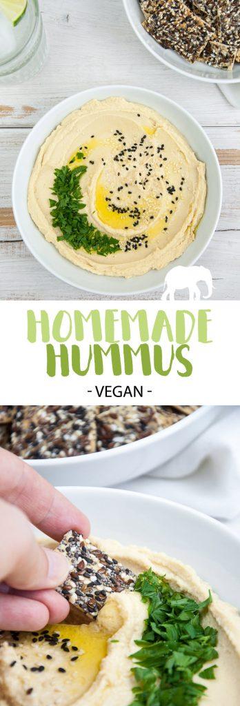 Homemade Hummus | ElephantasticVegan.com