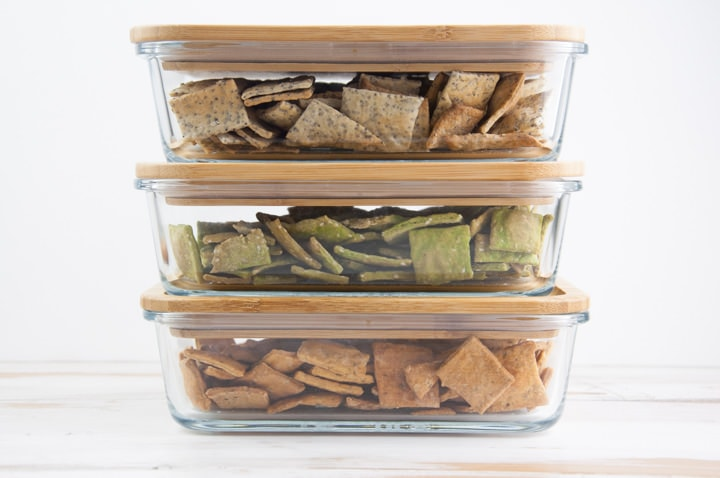 storing crackers in air-tight containers