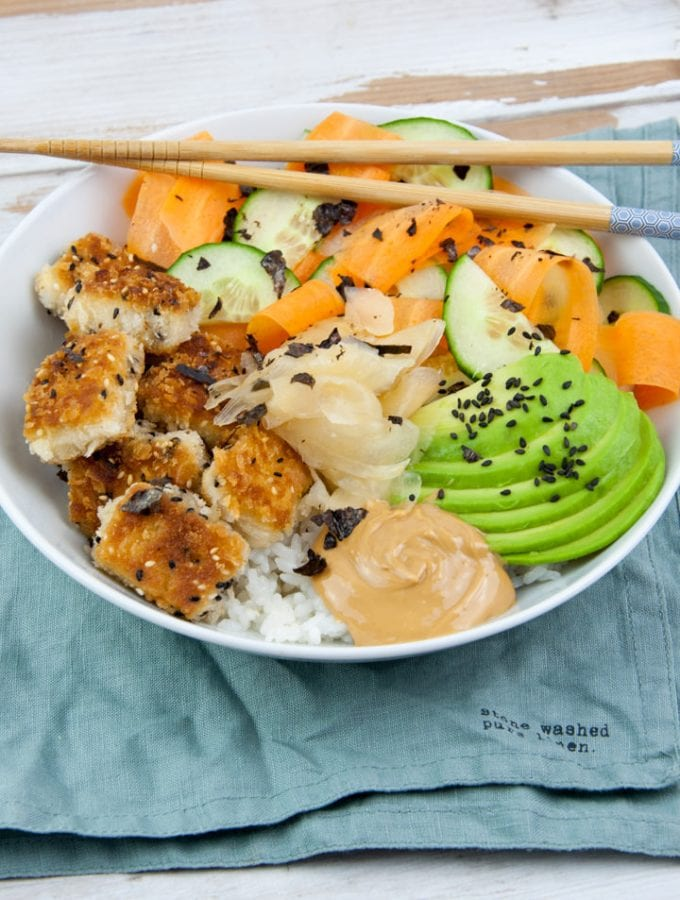 Vegan Sushi Bowl with Tofu