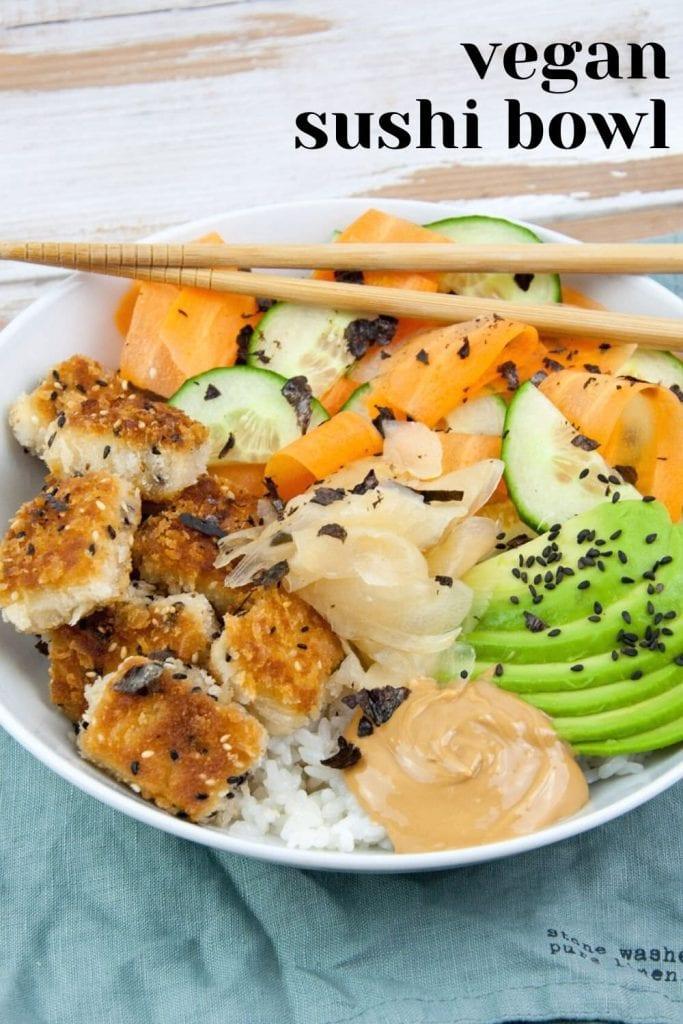 Vegan Sushi Bowl with Tofu