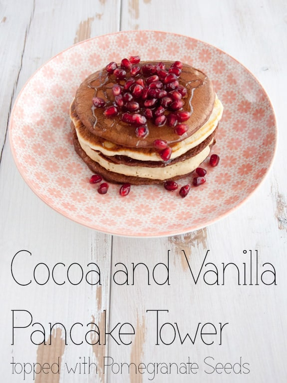 Cocoa and Vanilla Pancake Tower