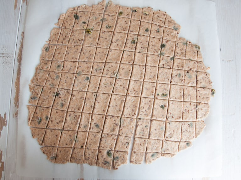 Whole Wheat Seed Crackers before baking