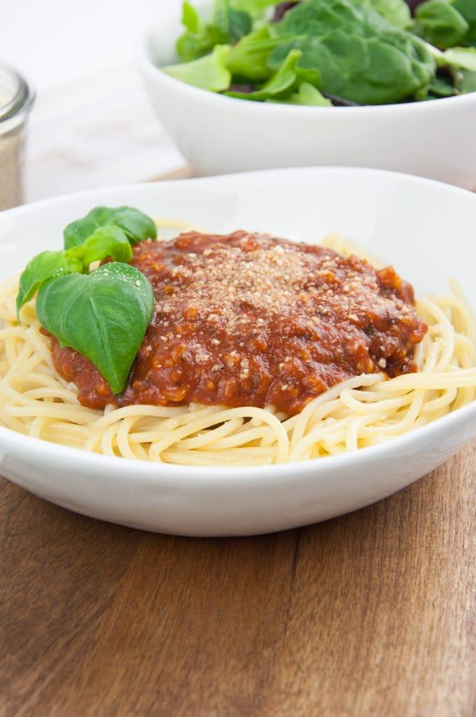 Vegan Spaghetti Bolognese Recipe   Elephantastic Vegan