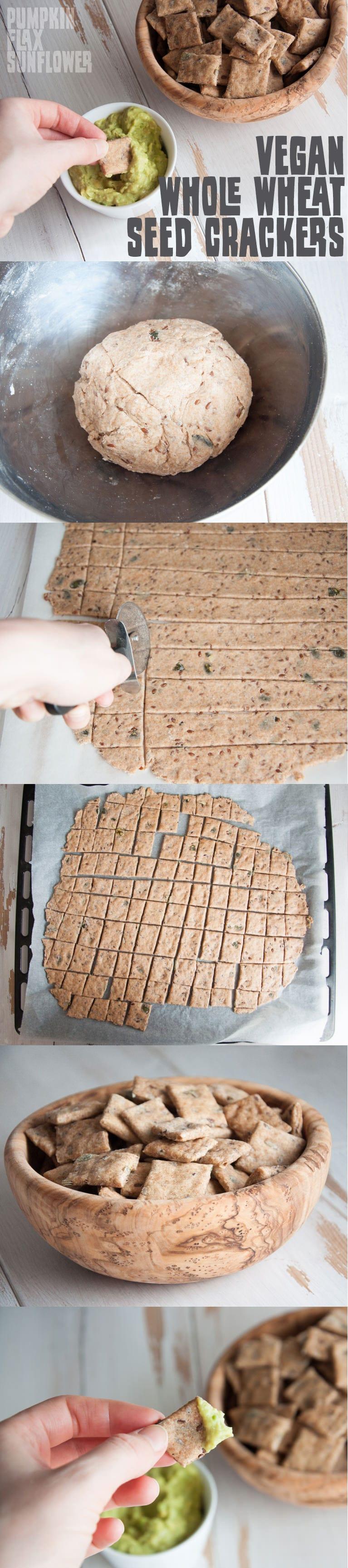 Vegan Whole Wheat Seed Crackers