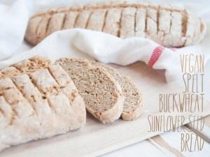Spelt Buckwheat Sunflower Seed Bread