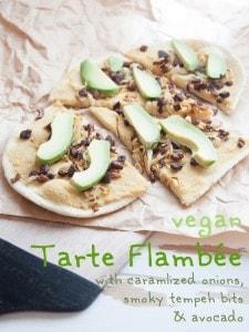 vegan Tarte Flambée