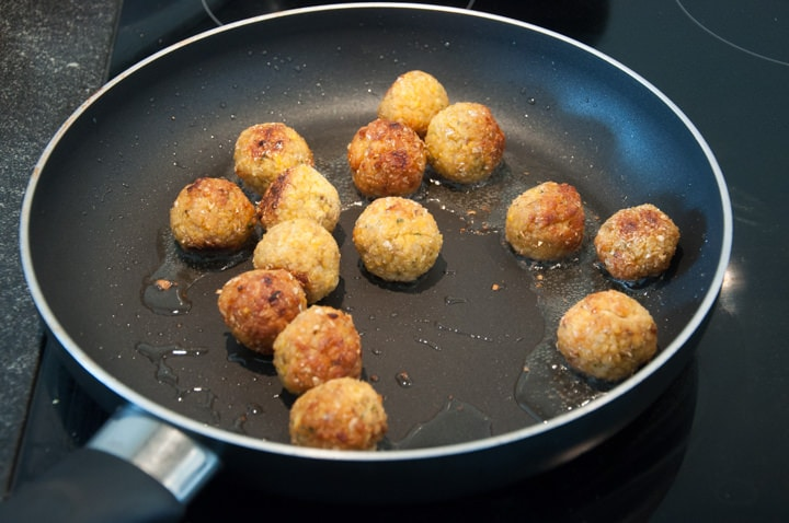 falafel in a pan