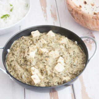 Quick and Dirty Vegan Palak Tofu
