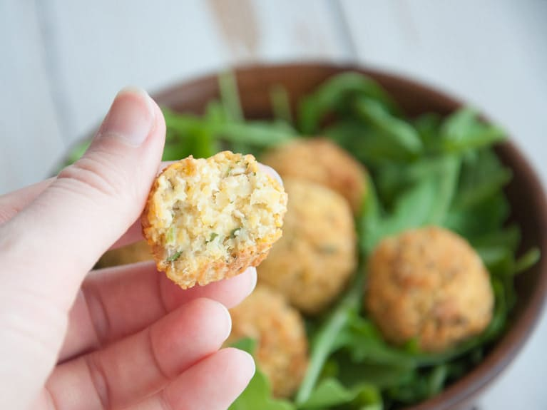 Vegan Oil-Free Oven Baked Falafel with Cilantro
