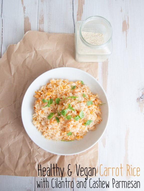 Healthy & Vegan Carrot Rice