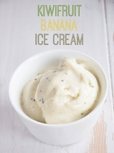 Kiwifruit Banana Ice Cream