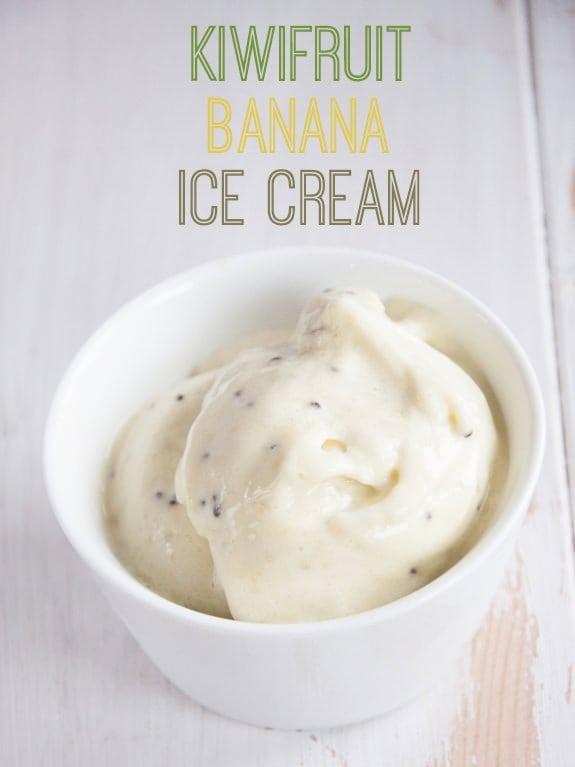 Kiwifruit Banana Ice Cream