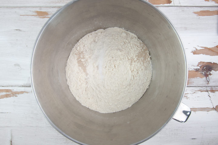 dry ingredients for bread