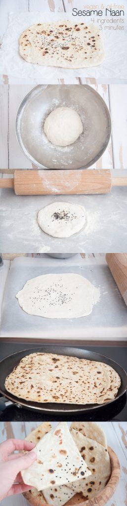 Vegan 4-Ingredient Sesame Naan