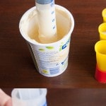 Use a syringe to fill your popsicle molds without making a mess