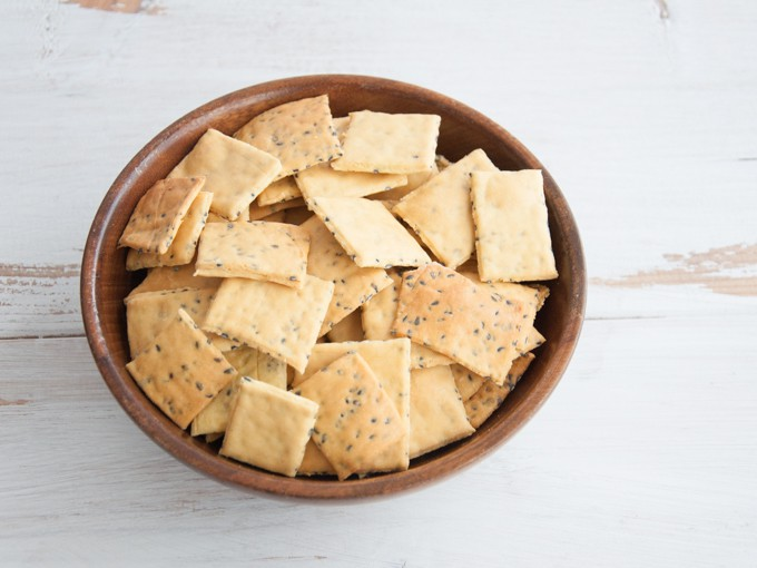 Gluten-free Chickpea Crackers