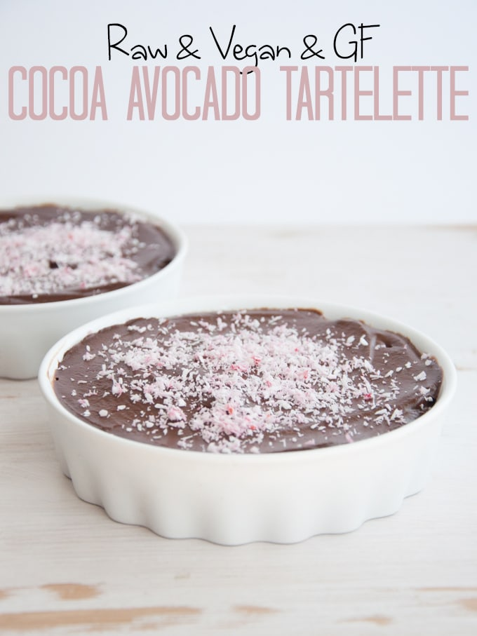 Raw Cocoa Avocado Tartelette
