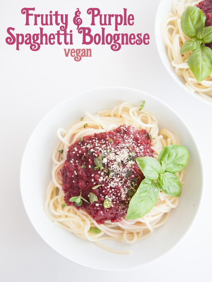 Fruity & Purple Spaghetti Bolognese