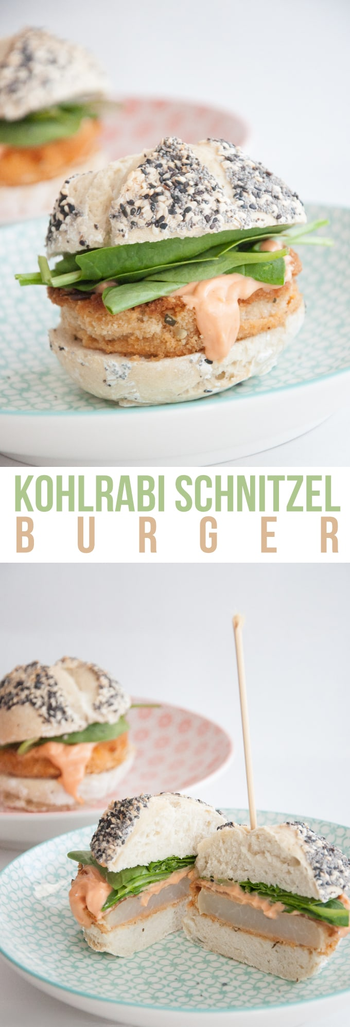 Kohlrabi Schnitzel Burger